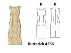 Pintucks: 7 Best Sheath Dress Patterns with Vintage Style: E...