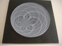 String Art within a Circle..... One circle of nails, a lot of string, magic. Superb Effect !!!