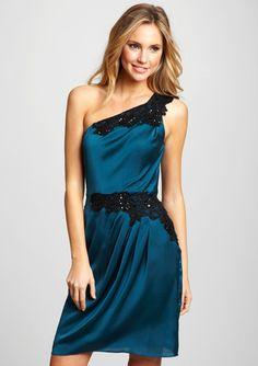 DECODE 1.8 One-Shoulder Lace Detail Dress