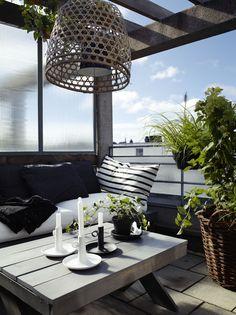 Terrasse d'été au look exotique chic