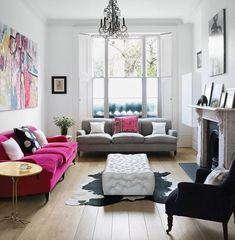 Pink sofa + pink cushion = winning/Photo: MyDomaine.com