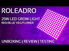 Roleadro LED Grow Light Unboxing and Review