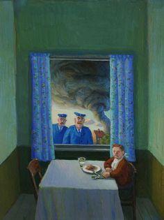 Michael Sowa, hurricane, tornado, table, window