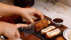 Korean Cheese Katsu Recipe & Video - Seonkyoung Longest Pork Cutlets, Pork Loin, Air Fry Recipes, Pork Recipes, Katsu Recipes, Tonkatsu Sauce, Seonkyoung Longest, Panko Bread Crumbs, Miso Soup