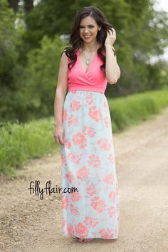 A Day at the Gardens Floral Maxi - Dresses
