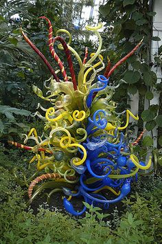 Dale Chihuly glass installation    Chihuly glass installation, Kew Gardens, London