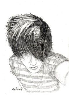 good emo drawings | emo guy
