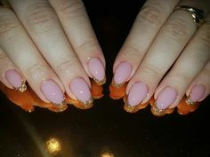 Simple nude glitter french nails