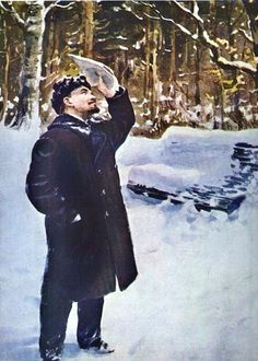 igor grabar | Igor Grabar. Vladimir Lenin in the Park. 1930s | Art and Faith
