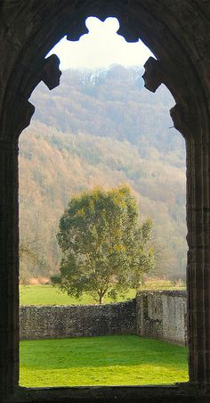 Ruins of Tintern Abbey, Wales: Through the Window
