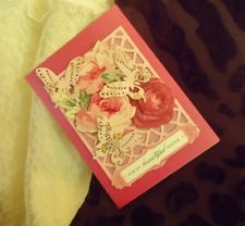 Beautiful Sister Birthday Greeting Card Handmade Anna Griffin Inspired 435