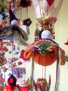 """Tsurushi-Bina"" : dolls displayed through the Girls' Festival season (up to March 3rd) / This is arranged like like bolls."