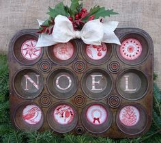 Image result for christmas muffin tin art