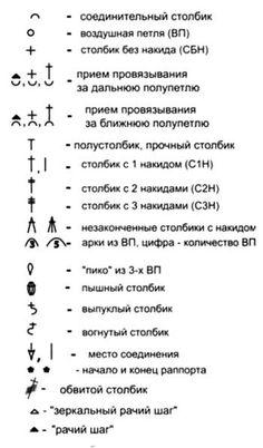 Условные обозначения: