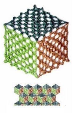Pattern Square Triangle Granny Square Pattern - Knitting and Crochet Crochet Square Patterns, Crochet Motifs, Crochet Quilt, Crochet Blocks, Crochet Diagram, Crochet Stitches Patterns, Crochet Squares, Crochet Chart, Thread Crochet