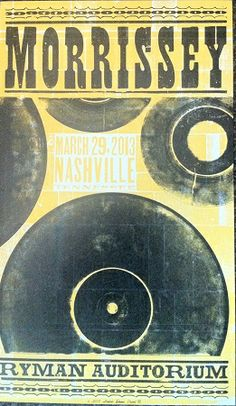 Morrissey Hatch Show Print 2013 $20