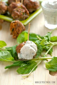 Mediterranean Lamb Meatballs with Yogurt Dipping Sauce: A flavorful appetizer that will take your tastebuds to the Mediterranean! And this lemon cumin yogurt sauce is fantastic. #ad- Eazy Peazy Mealz