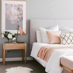 Bedroom design ideas,bedroom decor ideas,grey and pink bedroom Home Decor Apartment bedroom gray and gold bedroom grey and rose gold bedr. Home Decor Bedroom, Bedroom Makeover, Home Bedroom, Gold Bedroom, Small Apartment Bedrooms, Apartment Bedroom Decor, Home Decor, Room Inspiration, Apartment Decor