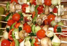 Barbecue Vegetable Skewers Recipe - Eliza Domestica