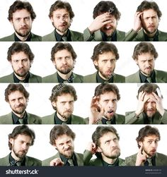 An Image Of A Set Of Facial Expressions 写真素材 46698133 : Shutterstock