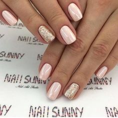 Here's a collection of 35 of the best ideas for your wedding nails. - Here's a collection of 35 of the best ideas for your wedding nails.nails for spring and summer wedding; Cute Nails, Pretty Nails, Pretty Eyes, Easy Nails, Pretty Makeup, Nail Art Vernis, Milky Nails, Wedding Nails Design, Glitter Wedding Nails