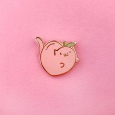 The Pink Samurai's Super Fun Pin Jubilee! Cute Fruit, Cool Pins, Pin And Patches, Pin Badges, Cute Pink, Lapel Pins, Pin Collection, Kitten, Peach
