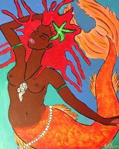 """Carib Siren"" mermaid art by Carib Ibis"