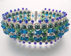 Green And Blue Woven Bracelet