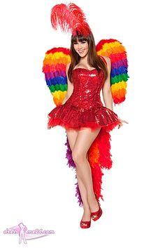 Besuche uns gern auch auf dressme24.com ;-) Sexy Papagei Kostüm - - made by Roma Costume USA. Edle Pailletten Corsage, die sich individuell im Rücken binden lässt. Kurzer Pailletten Minirock mit eingenähtem Petticoat. Mit abnehmbarer Federboa als Schwanz. Haarreif mit langer rotfarbener Feder. #Kostueme, #Sexykostueme, #Papageinkostuem