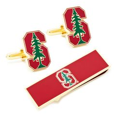 Stanford University Cufflinks and Money Clip Gift Set