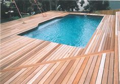 decking around the pool