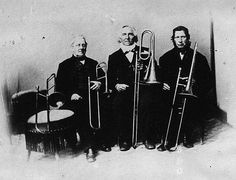 Trombone players in the 1800's