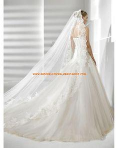 2013 Wunderschöne Brautkleider mit Spitze Meerjungfrau mit langer Schleppe sexy korsage