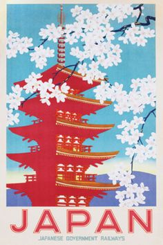 Japan, Japanese Government Railways Travel Poster