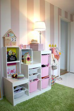 Cute shelf idea...things from ikea...