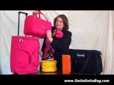 Sooooo much better than a plain ol' black suitcase. Who wouldn't want to travel with these cute bags? Priced from $19 -115 with free personalization available on a lot of them. GottaGettaBag.com