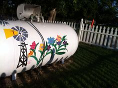 Paint something cute on your propane tank!