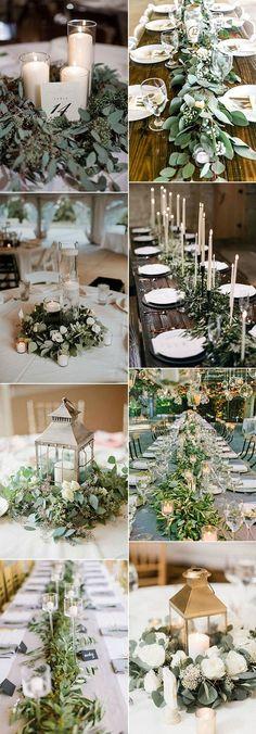 greenery wedding centerpieces for 2018 trends #weddingtrends #weddingideas #weddingdecor #weddingcenterpiece #greenerywedding