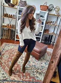 Fall Fashion Outfits, Casual Fall Outfits, Fall Winter Outfits, Autumn Winter Fashion, Cute Outfits, Girl Outfits, Womens Fashion, Fashion Boots, Country Outfits