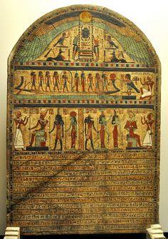 Usirur's Stele, Ptolemaic period. Museo Egizio, Torino, Italy