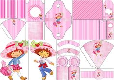 Strawberry Shortcake: Free Printable Backgrounds, Image and Free Party Printables.