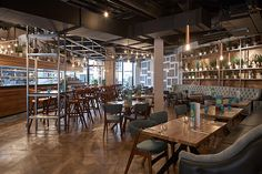 Banyan Bar and Kitchen, Manchester - No Chintz Pubs And Restaurants, Restaurant Interior Design, Restaurant Bar, Kitchen, Table, Play, Furniture, Home Decor, Cucina