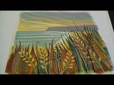 Video: Monotypes in Action | Rebecca Vincent artist Northumberland UK landscape art prints