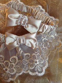 "The "" Marie Antoniette"" Gold Garter Set. The Metallics Collection. Free shipping worldwide. Wedding Garters of distinction. https://www.etsy.com/listing/200788658/the-marie-antoniette-gold-garter-set?ref=shop_home_active_13"