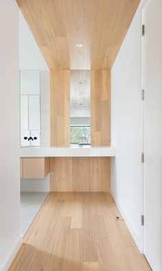 Canadian architectural practice StudioAC has taken cues from the work of late American designer Donald Judd for fittings inside this Toronto home. Arch Interior, Bathroom Interior, Interior Design, Bauhaus, Agi Architects, Toronto Houses, Wooden Staircases, Storey Homes, Cube Storage