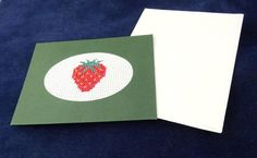Strawberry greetings card by LittleInsect on Etsy £0.99