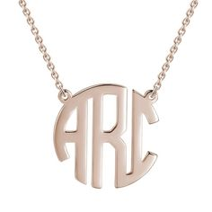 Personalized Letters Necklace - Rose Gold