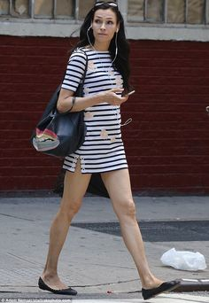 Shanks for the memories: Famke Janssen showcased her stunning stalks as she left a gym in New York on Sunday