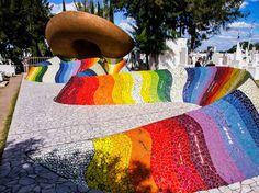 Mausoleum of José Alfredo Jiménez – Dolores Hidalgo, Mexico - Atlas Obscura Famous Mexican, Cemetery Angels, Travel Scrapbook, Atlas, Father, Colorful, Modern, Shawl, Mosaic