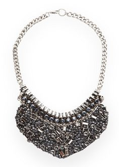 MANGO - NEW - Stones bib necklace